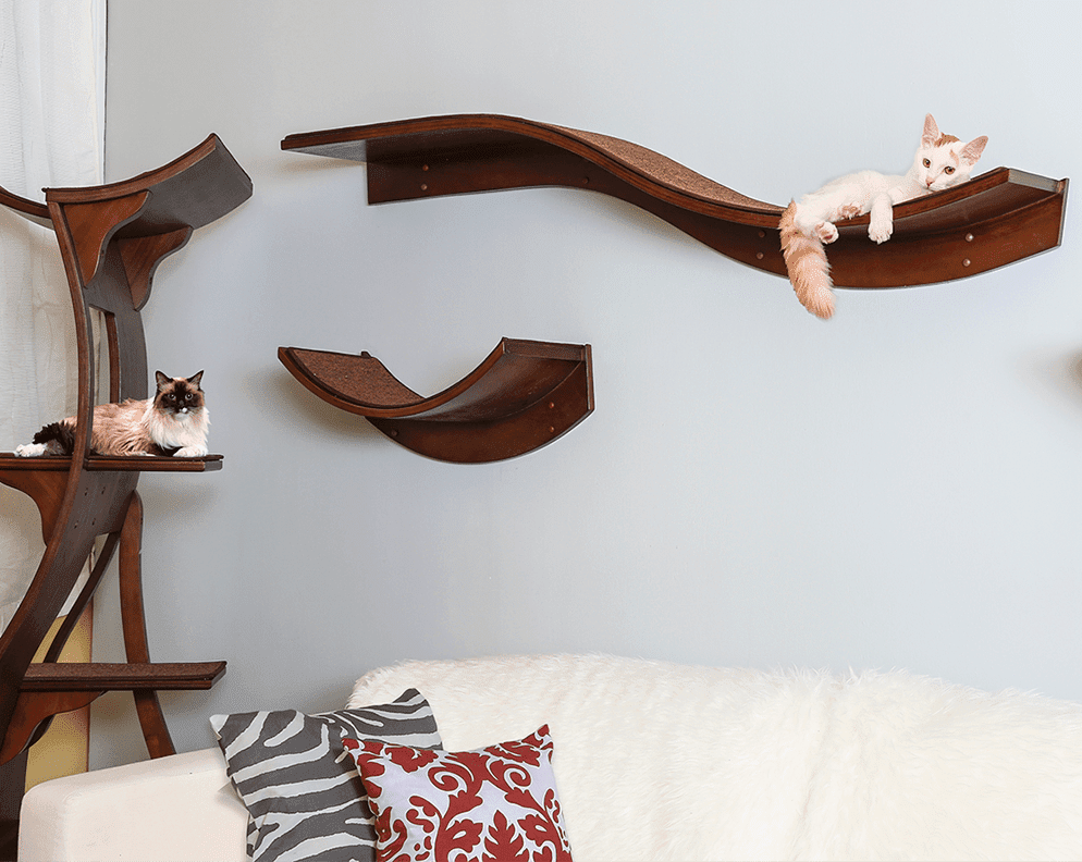 Lotus Cat Tower and Cat Shelves